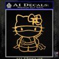 Hello Kitty Ninja Decal Sticker Gold Vinyl 120x120