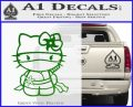 Hello Kitty Ninja Decal Sticker Green Vinyl Logo 120x97