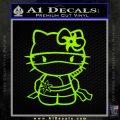 Hello Kitty Ninja Decal Sticker Lime Green Vinyl 120x120