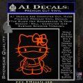 Hello Kitty Ninja Decal Sticker Orange Emblem 120x120