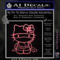 Hello Kitty Ninja Decal Sticker Pink Emblem 120x120