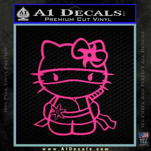 Hello Kitty Ninja Decal Sticker Pink Hot Vinyl