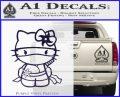 Hello Kitty Ninja Decal Sticker PurpleEmblem Logo 120x97