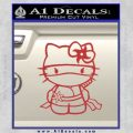 Hello Kitty Ninja Decal Sticker Red 120x120