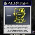 Hello Kitty Ninja Decal Sticker Yellow Laptop 120x120