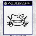 Hello Kitty Ninja Face D1 Decal Sticker Black Vinyl 120x120