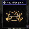 Hello Kitty Ninja Face D1 Decal Sticker Gold Vinyl 120x120