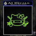 Hello Kitty Ninja Face D1 Decal Sticker Lime Green Vinyl 120x120