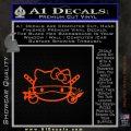 Hello Kitty Ninja Face D1 Decal Sticker Orange Emblem 120x120