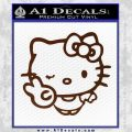 Hello Kitty Peace Wink Decal Sticker BROWN Vinyl 120x120