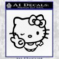 Hello Kitty Peace Wink Decal Sticker Black Vinyl 120x120