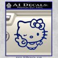 Hello Kitty Peace Wink Decal Sticker Blue Vinyl 120x120