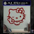 Hello Kitty Peace Wink Decal Sticker DRD Vinyl 120x120