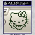 Hello Kitty Peace Wink Decal Sticker Dark Green Vinyl 120x120
