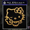 Hello Kitty Peace Wink Decal Sticker Gold Vinyl 120x120