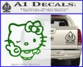 Hello Kitty Peace Wink Decal Sticker Green Vinyl Logo 120x97
