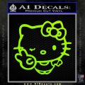 Hello Kitty Peace Wink Decal Sticker Lime Green Vinyl 120x120