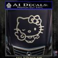Hello Kitty Peace Wink Decal Sticker Metallic Silver Emblem 120x120