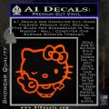 Hello Kitty Peace Wink Decal Sticker Orange Emblem 120x120