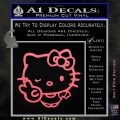 Hello Kitty Peace Wink Decal Sticker Pink Emblem 120x120