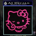 Hello Kitty Peace Wink Decal Sticker Pink Hot Vinyl 120x120