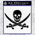 Jolly Roger Pirate Skull Decal Sticker Black Vinyl 120x120