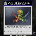 Jolly Roger Pirate Skull Decal Sticker Glitter Sparkle 120x120