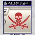 Jolly Roger Pirate Skull Decal Sticker Red 120x120