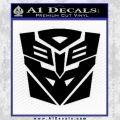 Transformers Ancient Hybrid Decal Sticker Black Vinyl 120x120