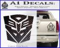 Transformers Ancient Hybrid Decal Sticker Carbon FIber Black Vinyl 120x97