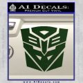 Transformers Ancient Hybrid Decal Sticker Dark Green Vinyl 120x120