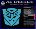 Transformers Ancient Hybrid Decal Sticker Light Blue Vinyl 120x97