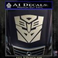 Transformers Ancient Hybrid Decal Sticker Metallic Silver Emblem 120x120