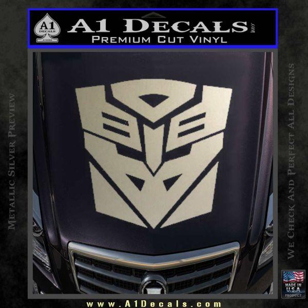 Transformers Ancient Hybrid Decal Sticker Metallic Silver Emblem