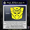 Transformers Ancient Hybrid Decal Sticker Yellow Laptop 120x120