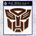 Transformers Autobots Decal Sticker tf BROWN Vinyl 120x120