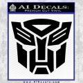 Transformers Autobots Decal Sticker tf Black Vinyl 120x120