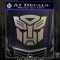 Transformers Autobots Decal Sticker tf Carbon FIber Chrome Vinyl 120x120