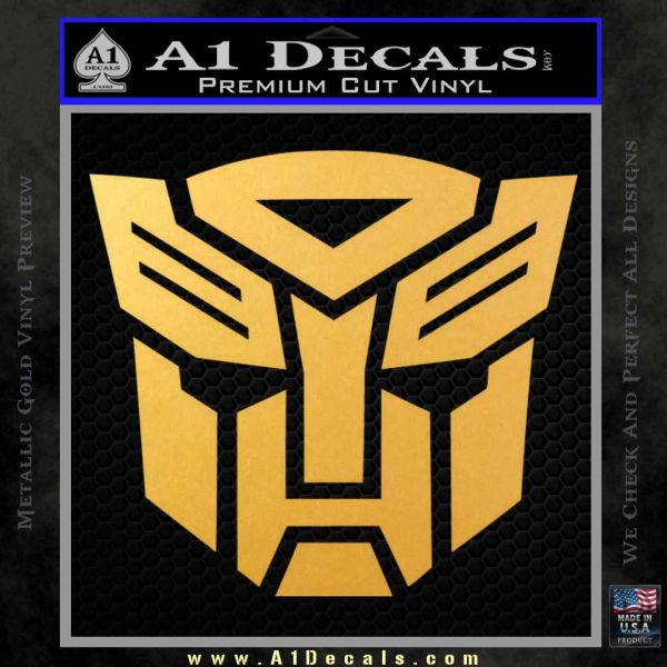 Transformers autobots decal sticker tf gold vinyl