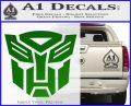 Transformers Autobots Decal Sticker tf Green Vinyl Logo 120x97