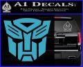 Transformers Autobots Decal Sticker tf Light Blue Vinyl 120x97