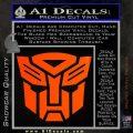 Transformers Autobots Decal Sticker tf Orange Emblem 120x120