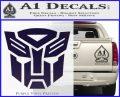 Transformers Autobots Decal Sticker tf PurpleEmblem Logo 120x97
