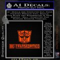 Transformers Be Transformed Decal Sticker Orange Emblem 120x120