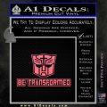Transformers Be Transformed Decal Sticker Pink Emblem 120x120