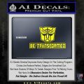 Transformers Be Transformed Decal Sticker Yellow Laptop 120x120