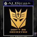 Transformers Christian Decal Sticker Decepticon Gold Vinyl 120x120