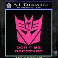 Transformers Christian Decal Sticker Decepticon Pink Hot Vinyl 120x120
