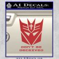 Transformers Christian Decal Sticker Decepticon Red 120x120