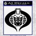 Transformers Cobra Decal Sticker Hybrid Black Vinyl 120x120